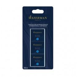 Inktpatronen Waterman blauw uitwasbaar blister à 6 stuks