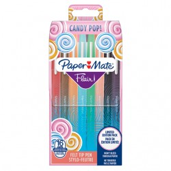 Fineliner Paper Mate Flair Candy Pop wallet à 16 kleuren