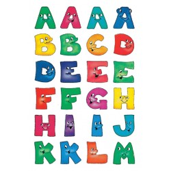 Etiket Herma 4194 28mm letters a-z gezichten 48stuks