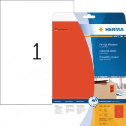 Etiket Herma 4422 210x297mm A4 verwijderbaar rood 20stuks