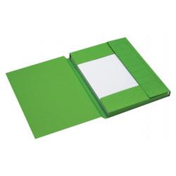 Dossiermap Jalema Secolor A4 3 kleppen 225gr groen