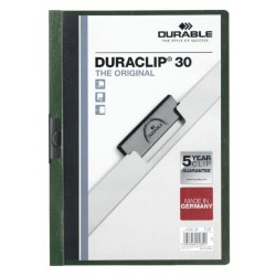 Klemmap Durable 2200 A4 3mm donkergroen