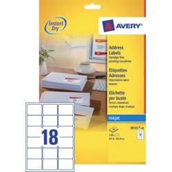 Etiket Avery J8161-40 63.5x46.6m wit 720stuks