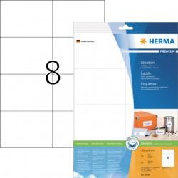 Etiket Herma 8645 105x74mm premium wit 80stuks