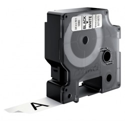 Labeltape Dymo 16960 D1 718070 19mmx5.5m poly zwart op wit