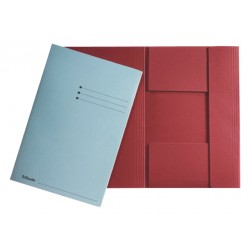 Dossiermap Esselte A4 3 kleppen manilla 275gr rood