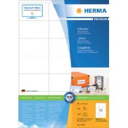 Etiket Herma 4451 70x42mm premium wit 2100stuks