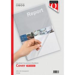 Voorblad Quantore A4 PVC 200 micron transparant 100stuks