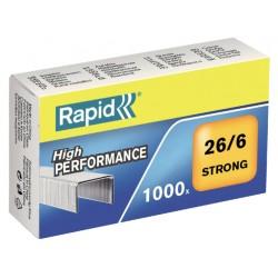 Nieten Rapid 26/6 gegalvaniseerd strong 1000 stuks