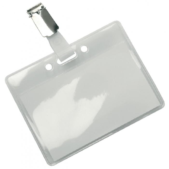 Badge HF2 met clip 95x78mm
