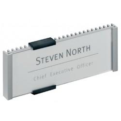 Deurbordje Durable 149x52mm metaal/zilver