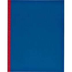 Kasboek 165x210mm 1 kolom 160blz  rode rug assorti