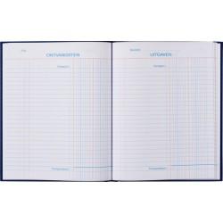 Kasboek 165x210mm 96blz 2 kolommen blauw