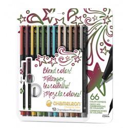 Fineliner Chameleon designers blister à 12 kleuren