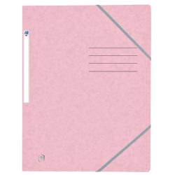 Elastomap Oxford Top File+ A4 pastel roze
