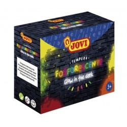 Plakkaatverf Jovi glow in the dark 55ml set à 4 kleuren ass