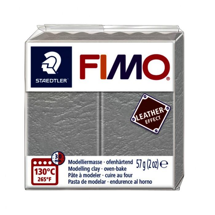 Klei Fimo leather-effect 57 gr duif grijs