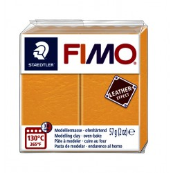 Klei Fimo  leather-effect 57 g saffraan geel