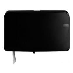 Dispenser Euro Quartz toiletrolhouder mini zwart