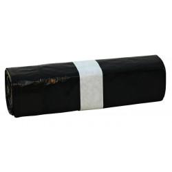 Afvalzak Euro met trekband zwart 500st