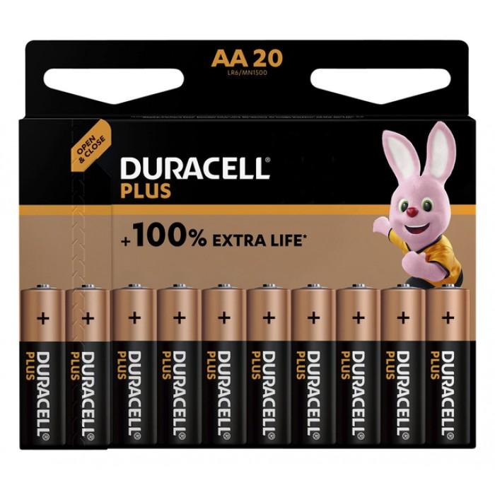 Batterij Duracell Plus 20xAA