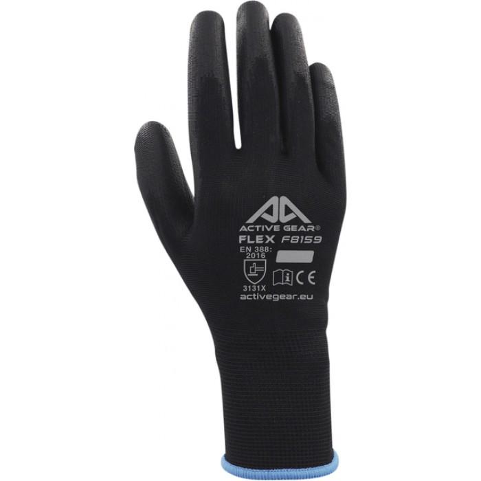 Handschoen ActiveGear grip PU-flex zwart medium