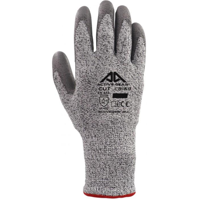 Handschoen ActiveGear snijbestendig grijs 8/M