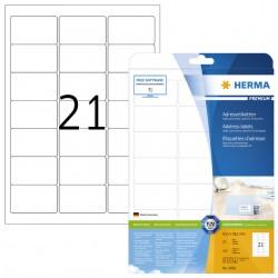 Etiket Herma 5029 A4 63.5x38.1mm premium wit