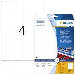 Etiket Herma 4697 105x148mm A4 weerbestendig wit