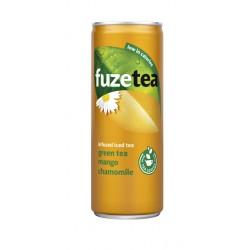 Frisdrank FuzeTea Mango kamille blikje 0.25l