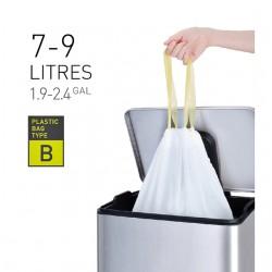 Afvalzak EKO met  trekband 7-9 liter type B wit