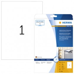 Etiket Herma 4866 210x297mm A4 folie 10st wit