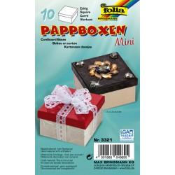 Kartonnen knutseldoosjes 75x75x45mm naturel