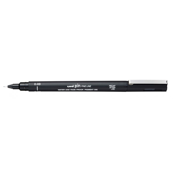 Fineliner Uni-ball Pin 0.03mm zwart