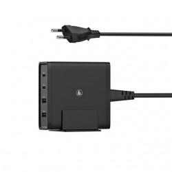 Oplaadstation Hama USB-C 4-voudig 5-20V/65W zwart