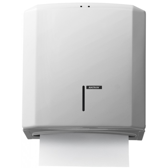 Dispenser Katrin 988113 vouwhanddoeken metaal wit