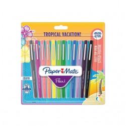 Fineliner Paper Mate Flair Tropical 0.7mm blister à 12 kleuren