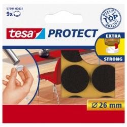 Beschermvilt Tesa antikras Tesa 57894 26mm rond bruin