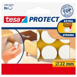 Beschermvilt Tesa antikras 57893 22mm rond wit