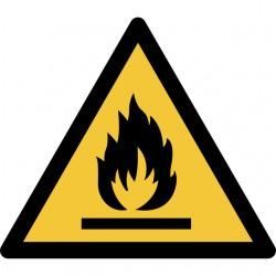 Pictogram Tarifold waarschuwing ontvlambaar 200x176mm