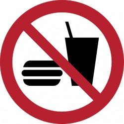 Pictogram Tarifold eten en drinken niet toegestaan ø200mm