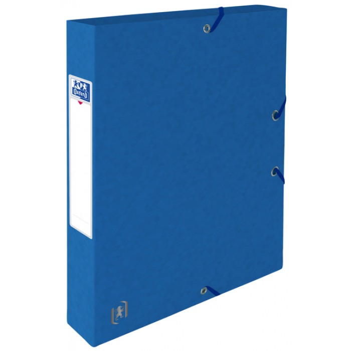 Elastobox Oxford Top File+ A4 40mm blauw