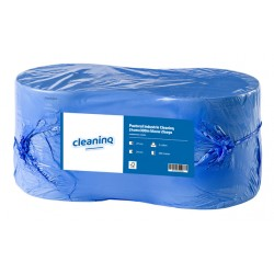 Poetsrol Industrie Cleaninq 24cmx300m blauw 2l