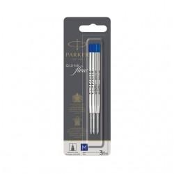 Balpenvulling Parker Quinkflow blauw 0.7mm  blister à 3 stuks