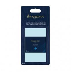 Inktpatroon Waterman internationaal Florida blauw blister à 8 stuks
