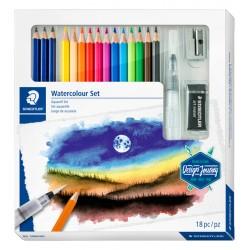 Kleurpotlood Staedtler Design Journey watercolour aquarel 18-delig