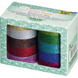 Tape Folia glitter 5mx15mm assorti