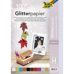 Glitter papier Folia 24x34cm 170gr