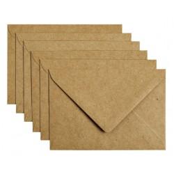 Envelop Papicolor C6 114x162mm Kraft bruin