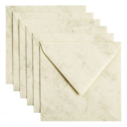 Envelop Papicolor 140x140mm Marble Ivoor
